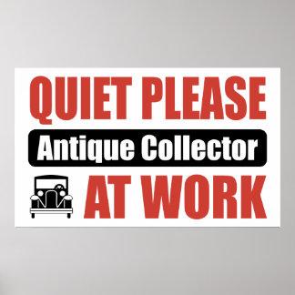 Do silêncio coletor antigo por favor no trabalho posteres