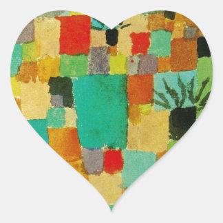 Do sul (tunisino) jardina por Paul Klee Adesivo Coração