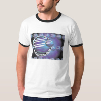Do t-shirt básico da campainha dos homens UNIVERSO Camiseta