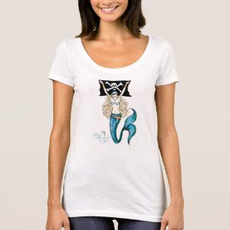 ~ do t-shirt da sereia do pirata do Aqua pelo Kat Camiseta
