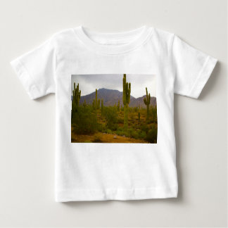 Do t-shirt fino do jérsei do bebê cactos camiseta para bebê