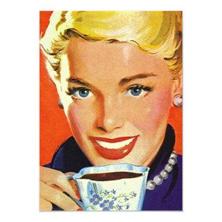 Do tea party vazio do café do vintage convite