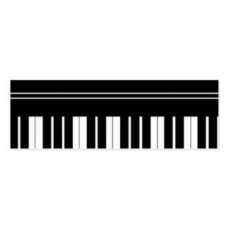 ~ do vazio do cartão de visita do teclado de piano