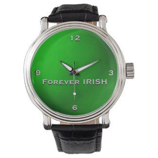 Do verde relógio IRLANDÊS do monograma para sempre