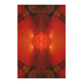 Do vermelho do terramoto império dimensões do r impressão de canvas esticadas