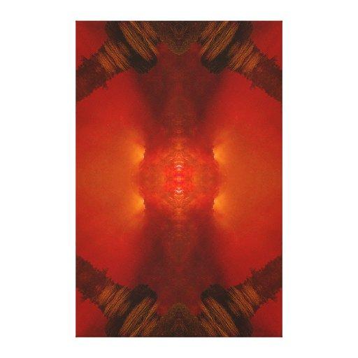 """Do """"vermelho do terramoto império"""" (dimensões do r impressão de canvas esticadas"""