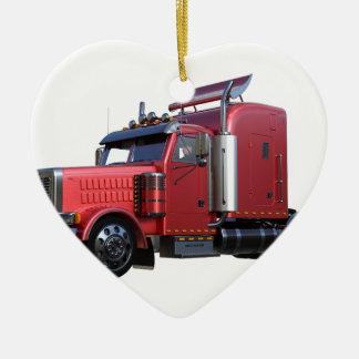 Do vermelho opinião metálica dos três quartos de ornamento de cerâmica coração