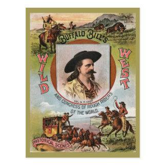 Do vintage ocidental selvagem da mostra dos cartão postal