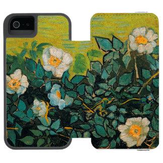 Do vintage selvagem dos rosas de Vincent van Gogh