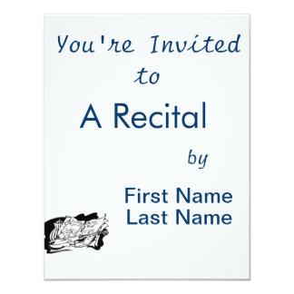 do violino da música do frasco vida outline.png convite 10.79 x 13.97cm