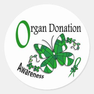 Doação de órgão da borboleta 2 do vitral adesivo