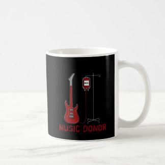 Doador da música caneca de café