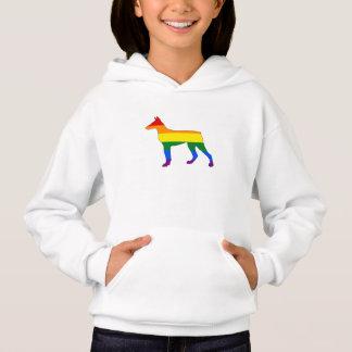 Doberman do arco-íris