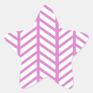 Dobradores cor-de-rosa de Bubblegum Chevron Adesito Estrela