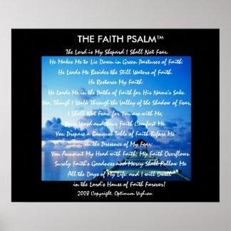 Doca da água do salmo da fé de WarriorsCreed Posteres