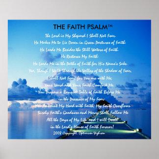 Doca da água do salmo da fé de WarriorsCreed Pôster