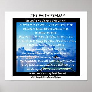 Doca da água do salmo da fé de WarriorsCreed Poster