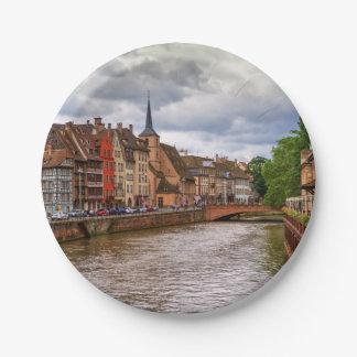 Doca do Saint Nicolas em Strasbourg, France Prato De Papel