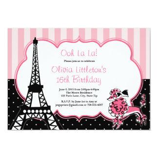 Doce 16 dos convites do aniversário de Paris