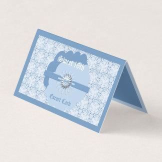 Doce azul Pastel 16o w/Bl BG do cartão 1 da