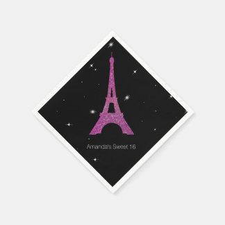 Doce chique do tema de Paris 16 guardanapo do