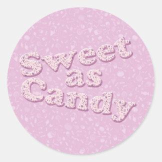 Doce como doces adesivo