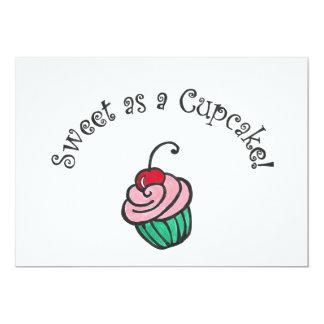 Doce como um cupcake convite 12.7 x 17.78cm