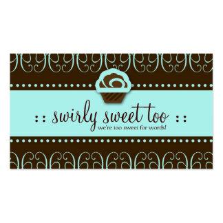 doce de 311-Turquoise Swirly demasiado Cartões De Visitas