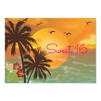 Doce dezesseis, convite tropical, havaiano de Luau