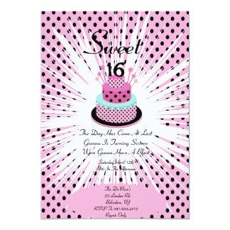 Doce uma explosão de dezesseis aniversários convite