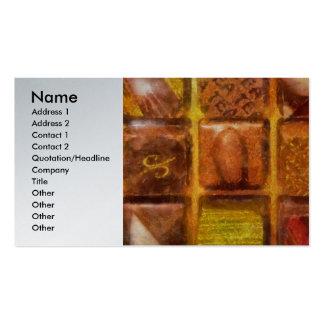 Doces - chocolates excelentes cartão de visita