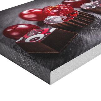 Doces de chocolate da trufa impressão em tela