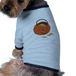 Doces do Dia das Bruxas Camisa Ringer Para Cachorro