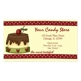 Doces doces cartão de visita