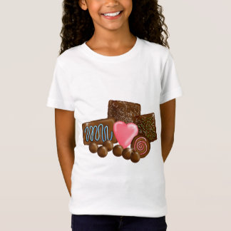 Doces dos doces de chocolate camiseta