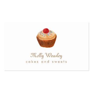 Doces e padaria do cupcake cartão de visita