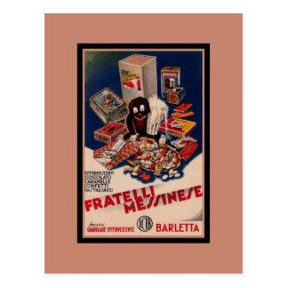 Doces italianos do vintage que anunciam cartão postal