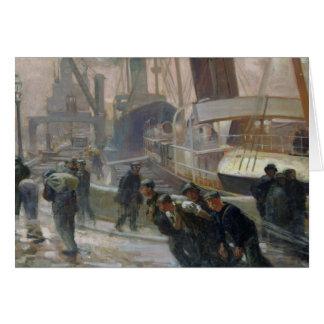 Dockers de Liverpool em Alvorecer, 1903 Cartão Comemorativo