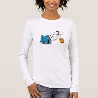 Doçura ou travessura assustador 3 camiseta manga longa