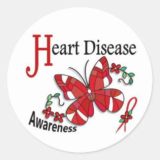 Doença cardíaca da borboleta 2 do vitral adesivos