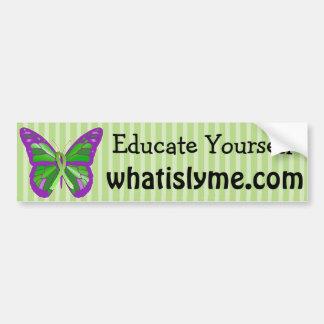 Doença de Lyme da borboleta do roxo e do verde Adesivo Para Carro