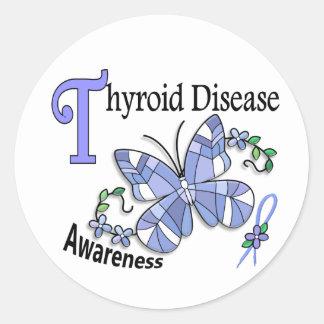 Doença de tiróide da borboleta 2 do vitral adesivo