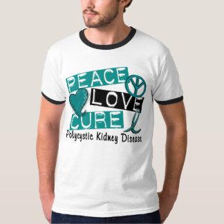 Doença renal Polycystic da cura PKD do amor da paz Tshirt