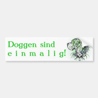 Dogge esverdeado Alemão Adesivo Para Carro