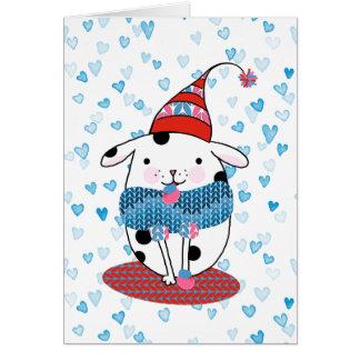Doggone cartão 5 x 7 do amor
