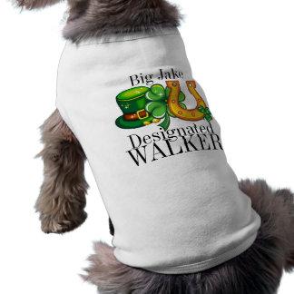 Doggy do dia de St Patrick designado do CAMINHANTE Camisa Sem Mangas Para Cachorro