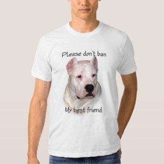 Dogo Argentino Anti-BSL Camiseta