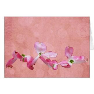 Dogwood cor-de-rosa mim cartão