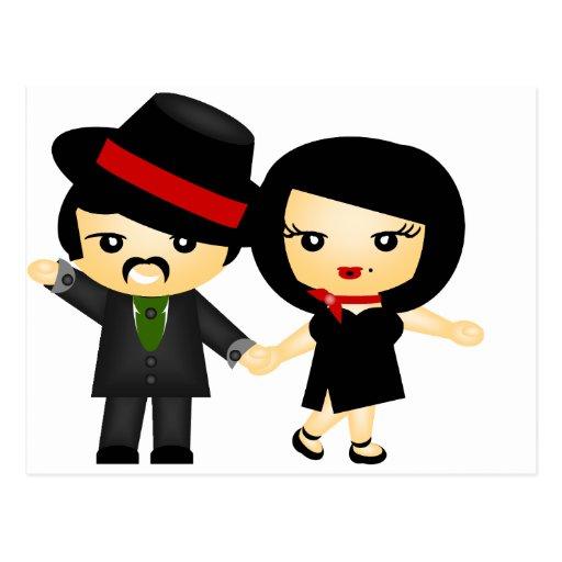 Dois ao tango cartão postal