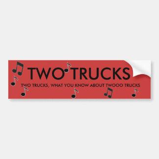 dois caminhões adesivo para carro